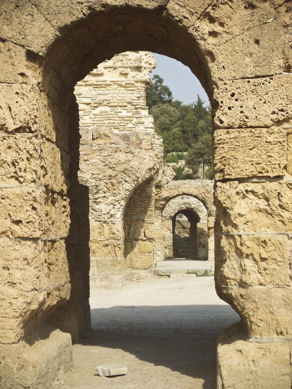 Download Free Stock Photo of Ruins in Tunisian Desert