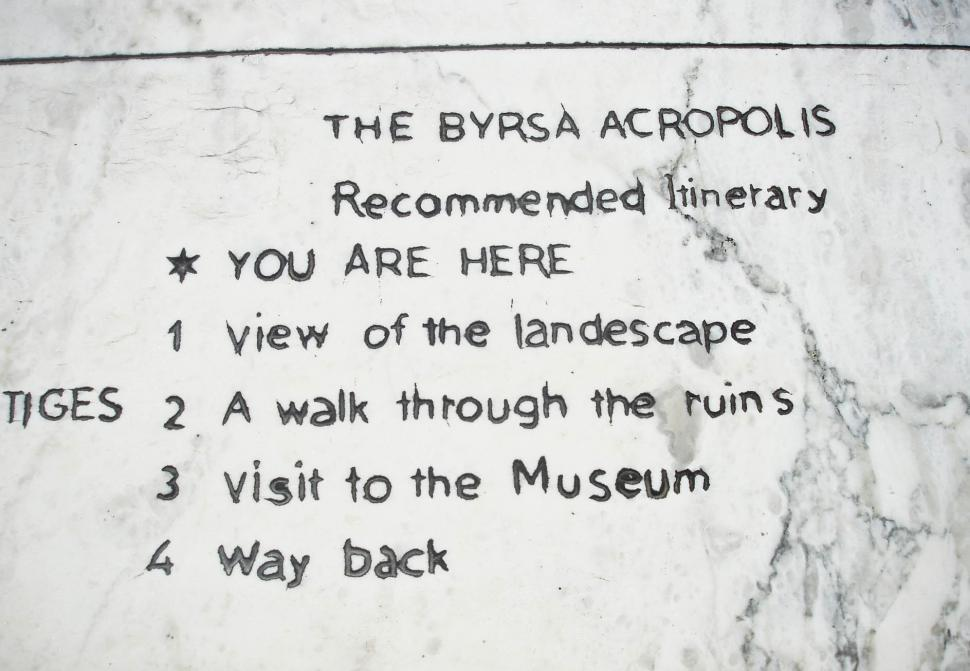 Download Free Stock Photo of Close-up of Instruction text for museum visitors