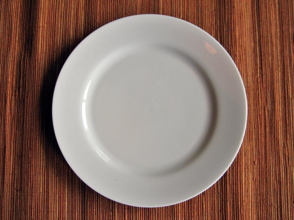 Download Free Stock Photo of Empty Plate