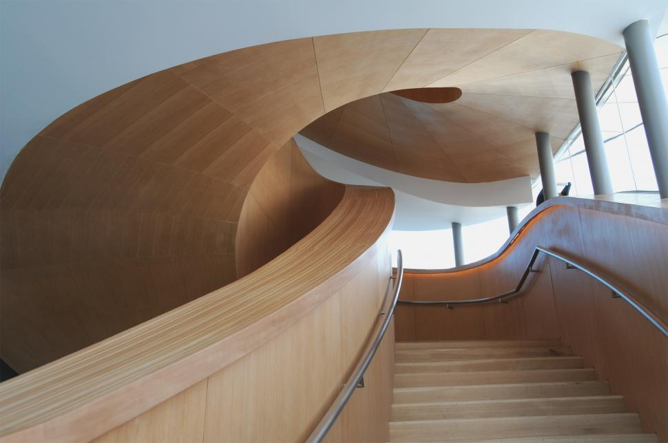 Download Free Stock HD Photo of Art Gallery of Ontario Frank Gehry Staircase Online