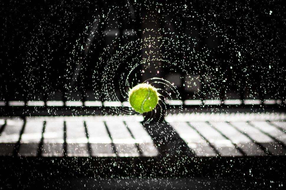 Download Free Stock Photo of tennis ball tennis ball icon sport competition symbol