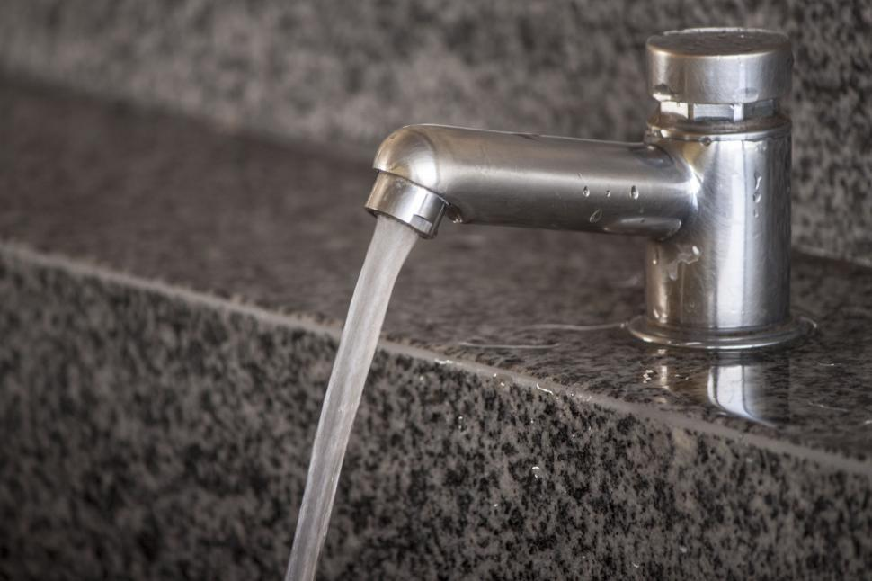Download Free Stock Photo of Running Water Faucet