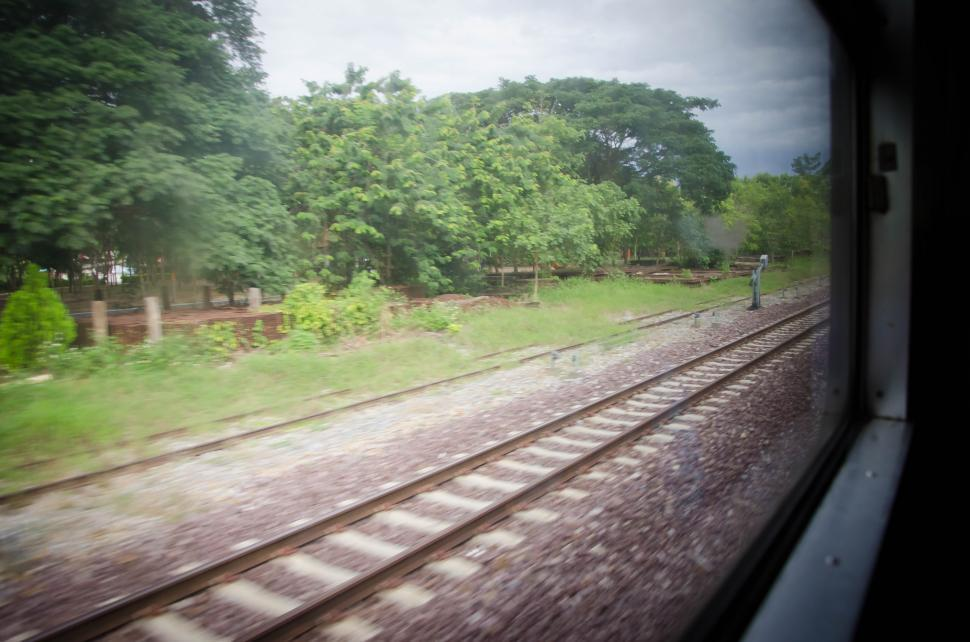 Download Free Stock Photo of View from train