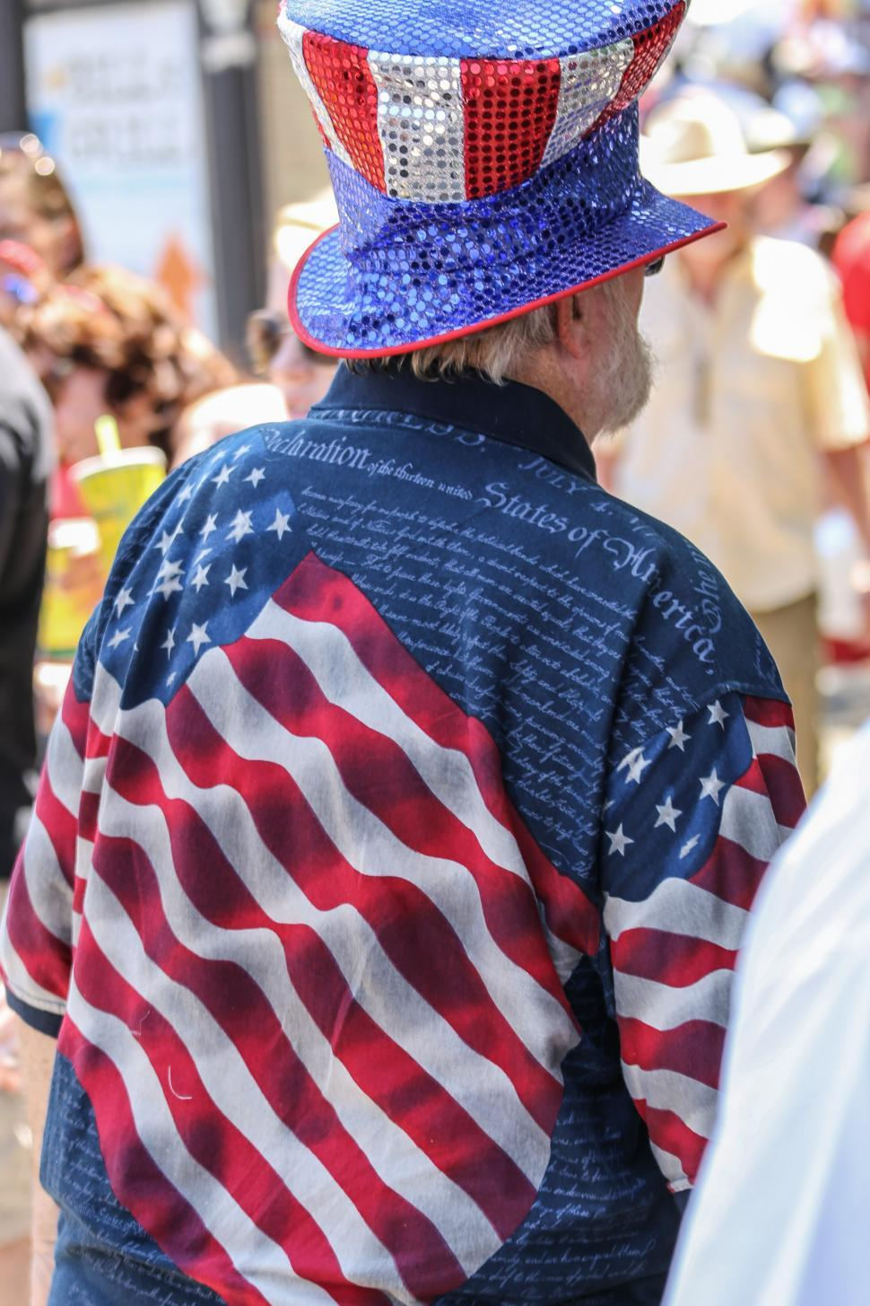 Download Free Stock HD Photo of Flag and constitution design shirt Online