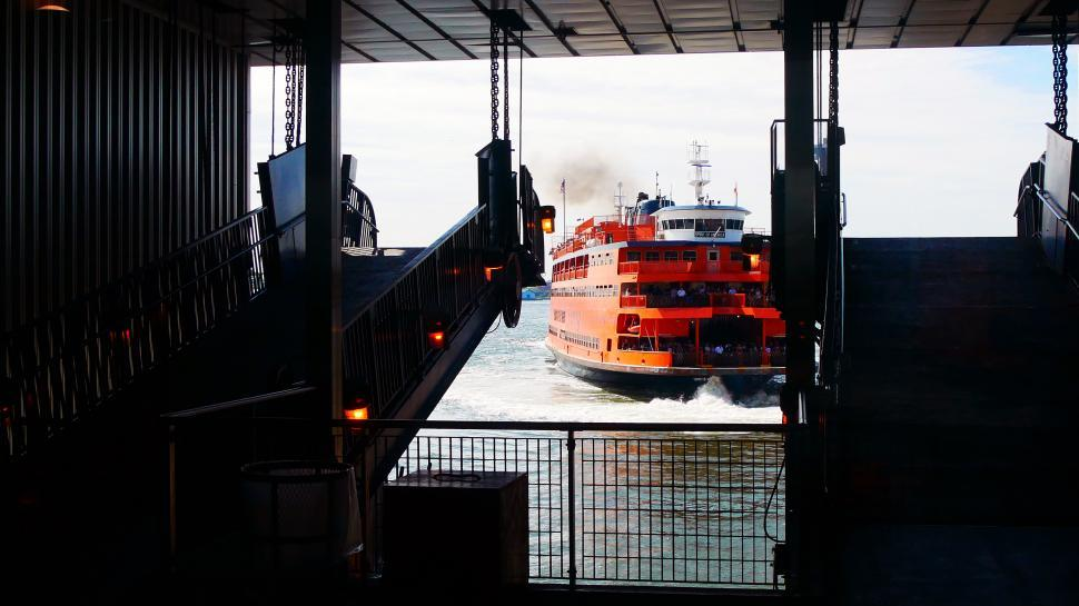 Download Free Stock HD Photo of Staten Island Ferry Docking Approach Online