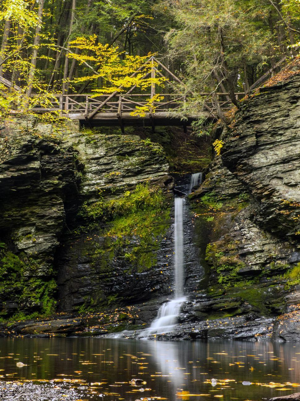 Download Free Stock HD Photo of Deer Leap Falls in Autumn Online