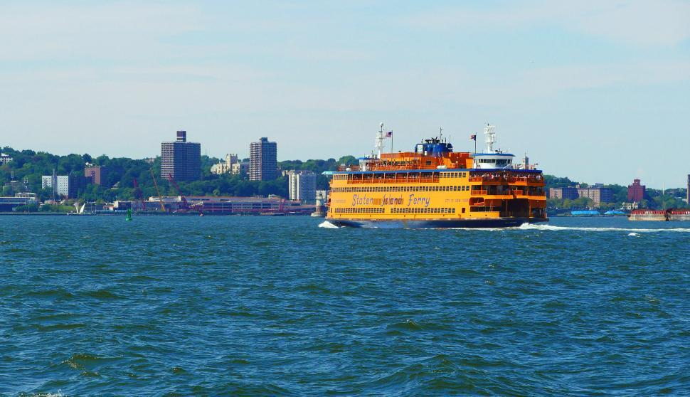Download Free Stock HD Photo of Staten Island Ferry Mid-crossing Online