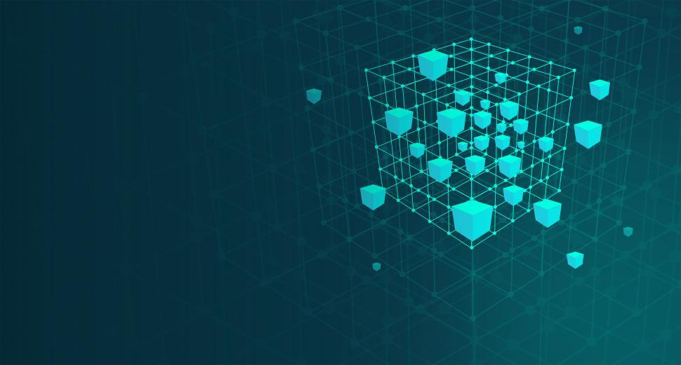 Download Free Stock Photo of Cube Mesh - Abstract - Big Data and Data Mining Concept - With C
