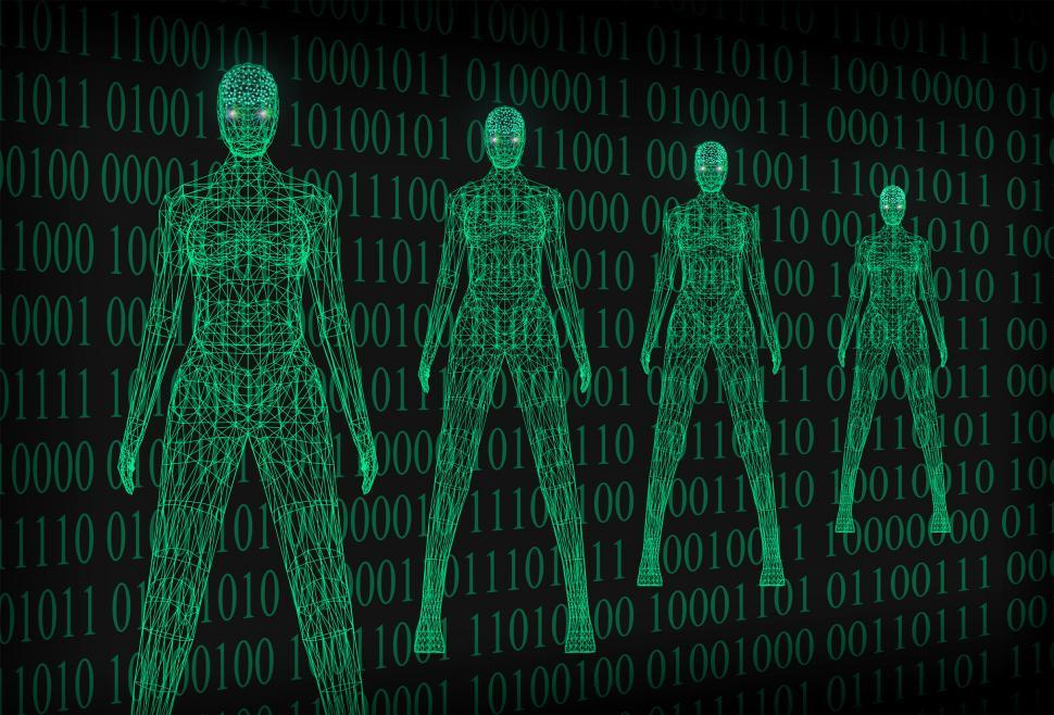 Download Free Stock HD Photo of Artificial Intelligence Concept With Binary Code Online