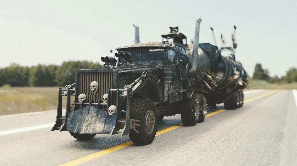 Download Free Stock Photo of Mad Max Model Truck