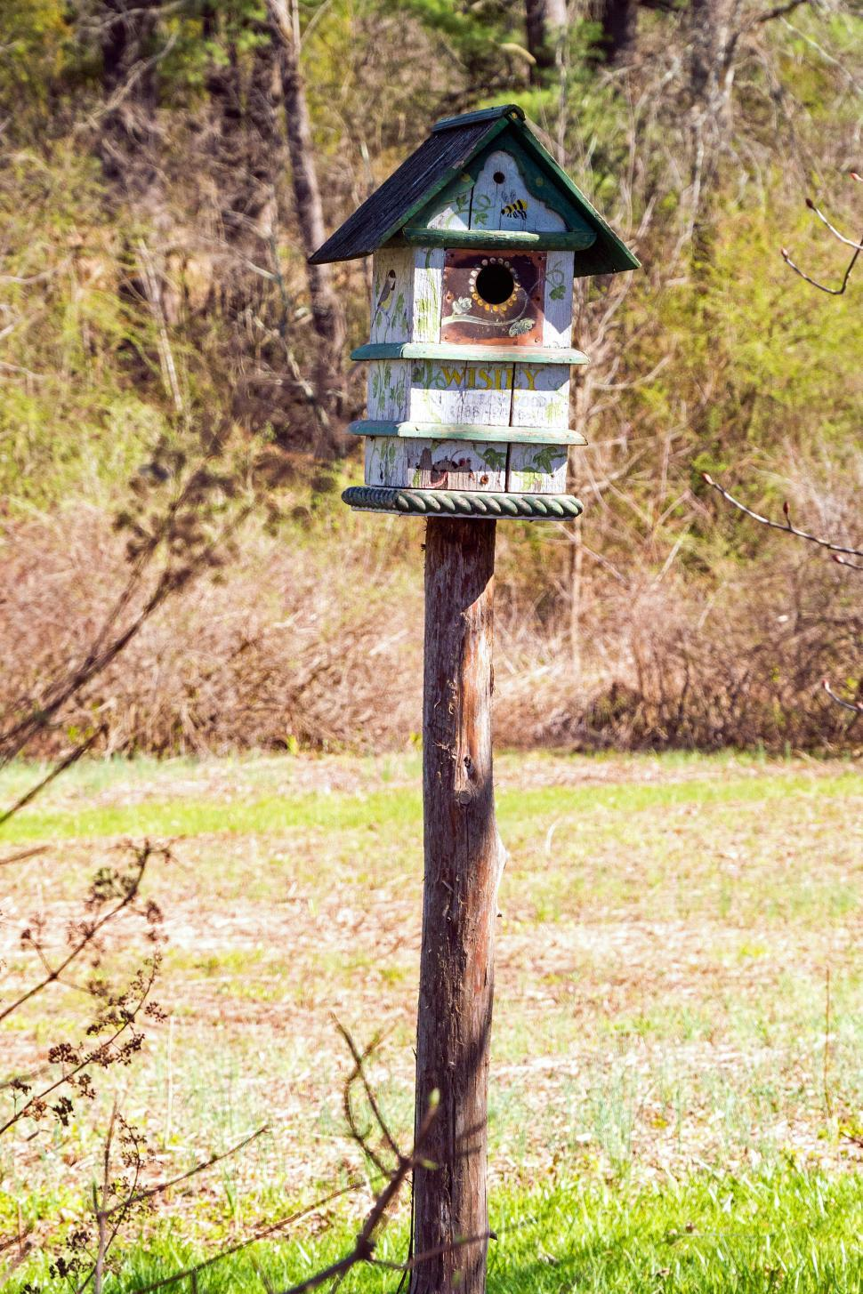 Download Free Stock HD Photo of Painted Birdhouse Online