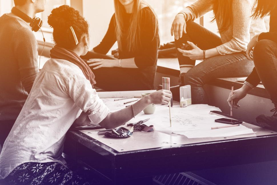 Download Free Stock Photo of Business Meeting - Discussing Plans Over Table - Young Entrepren
