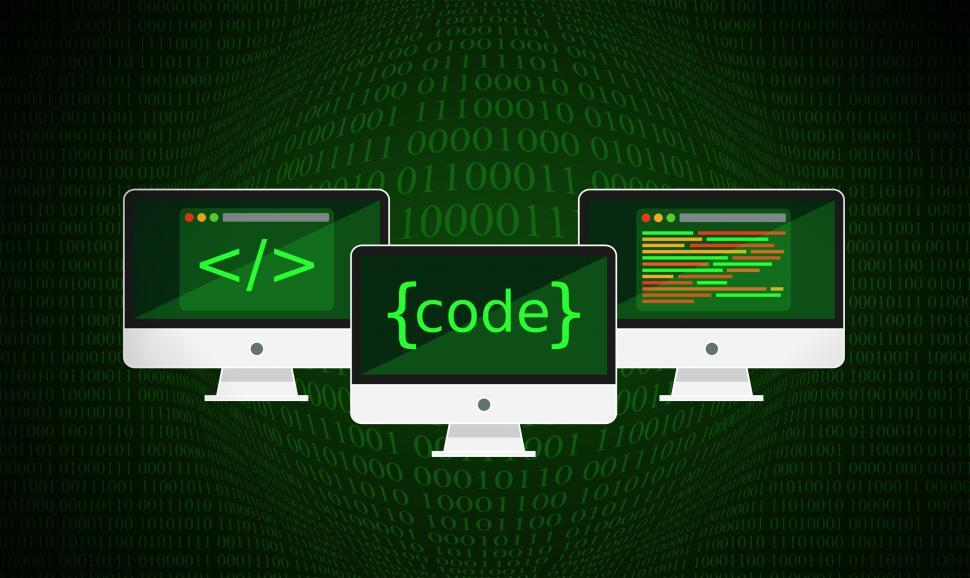 Download Free Stock Photo of Code - Coding and Programming - Dark Version