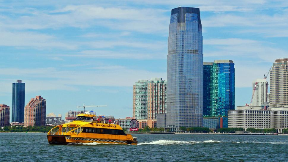 Download Free Stock HD Photo of Yellow Water Taxi, New York Online