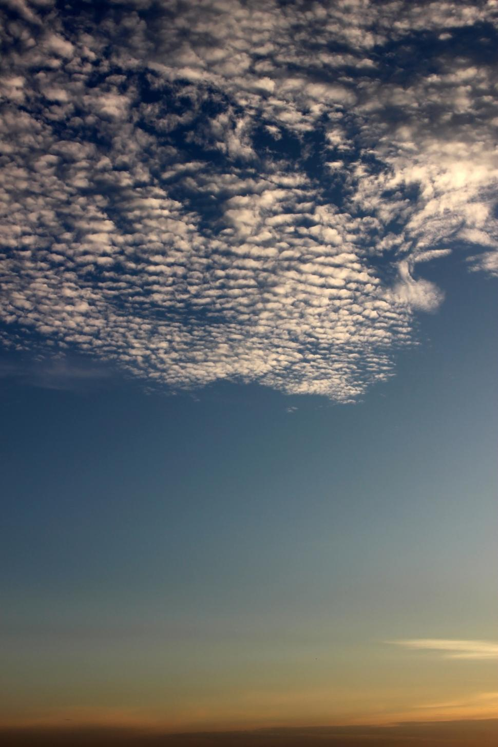 Download Free Stock HD Photo of Background of half clear blue sky and half broken clouds  Online