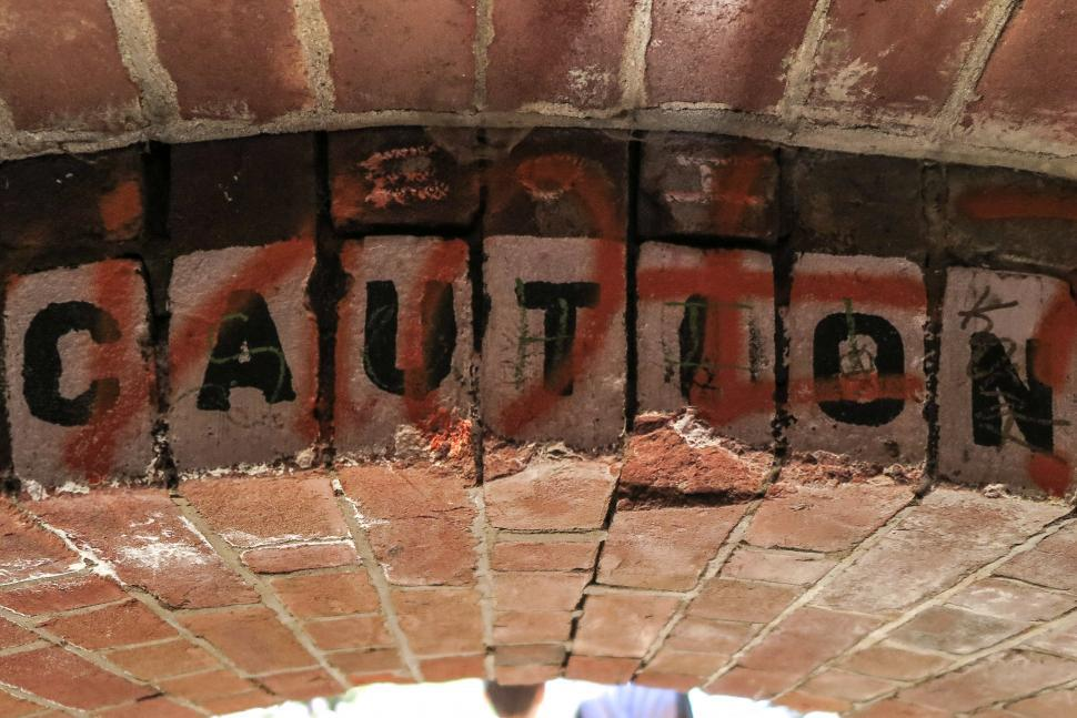 Download Free Stock HD Photo of Caution - Watch your Head Online