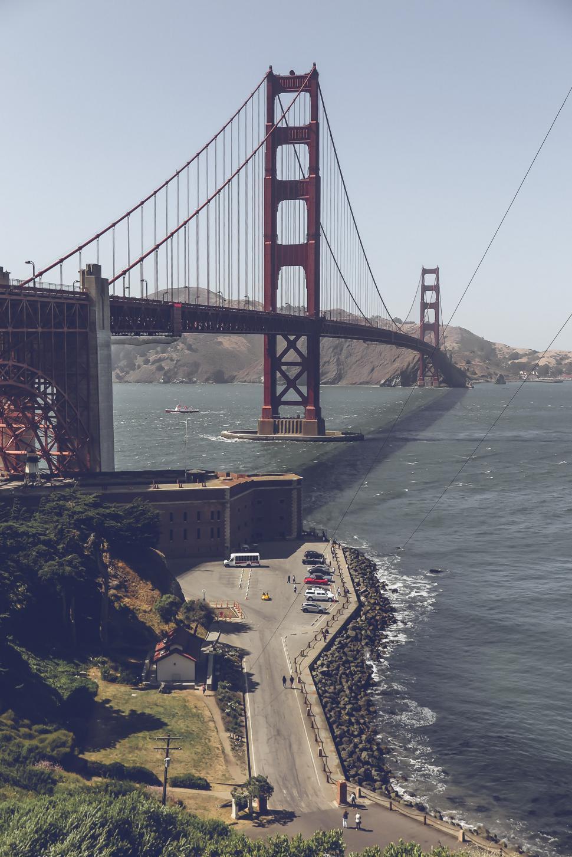 Download Free Stock HD Photo of Golden Gate Bridge, Wide View Online