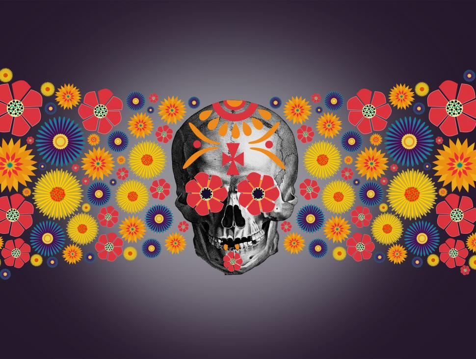 Download Free Stock Photo of Dia de los Muertos - Day of the Dead - Illustration