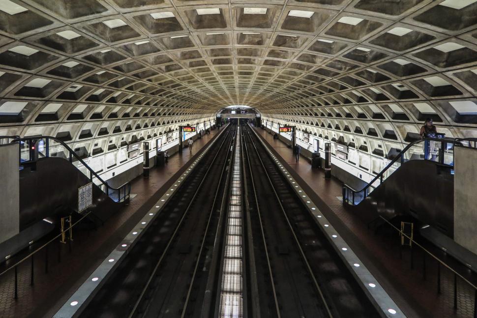 Download Free Stock Photo of Washtington D.C. Metro Station with No Train