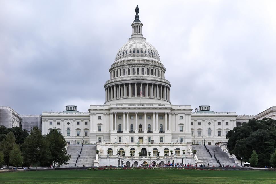 Download Free Stock Photo of United States Capitol Building Straight View