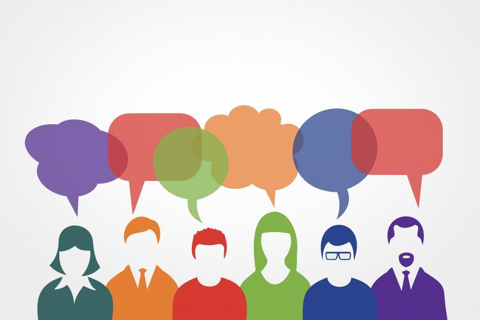 Download Free Stock Photo of People Communicating - Speech Bubbles