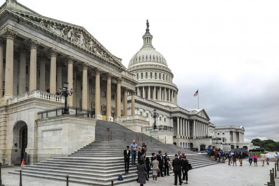 Download Free Stock Photo of People on Capitol Hill