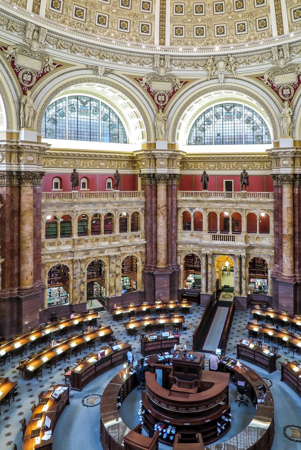 Download Free Stock Photo of Interior of Library of Congress