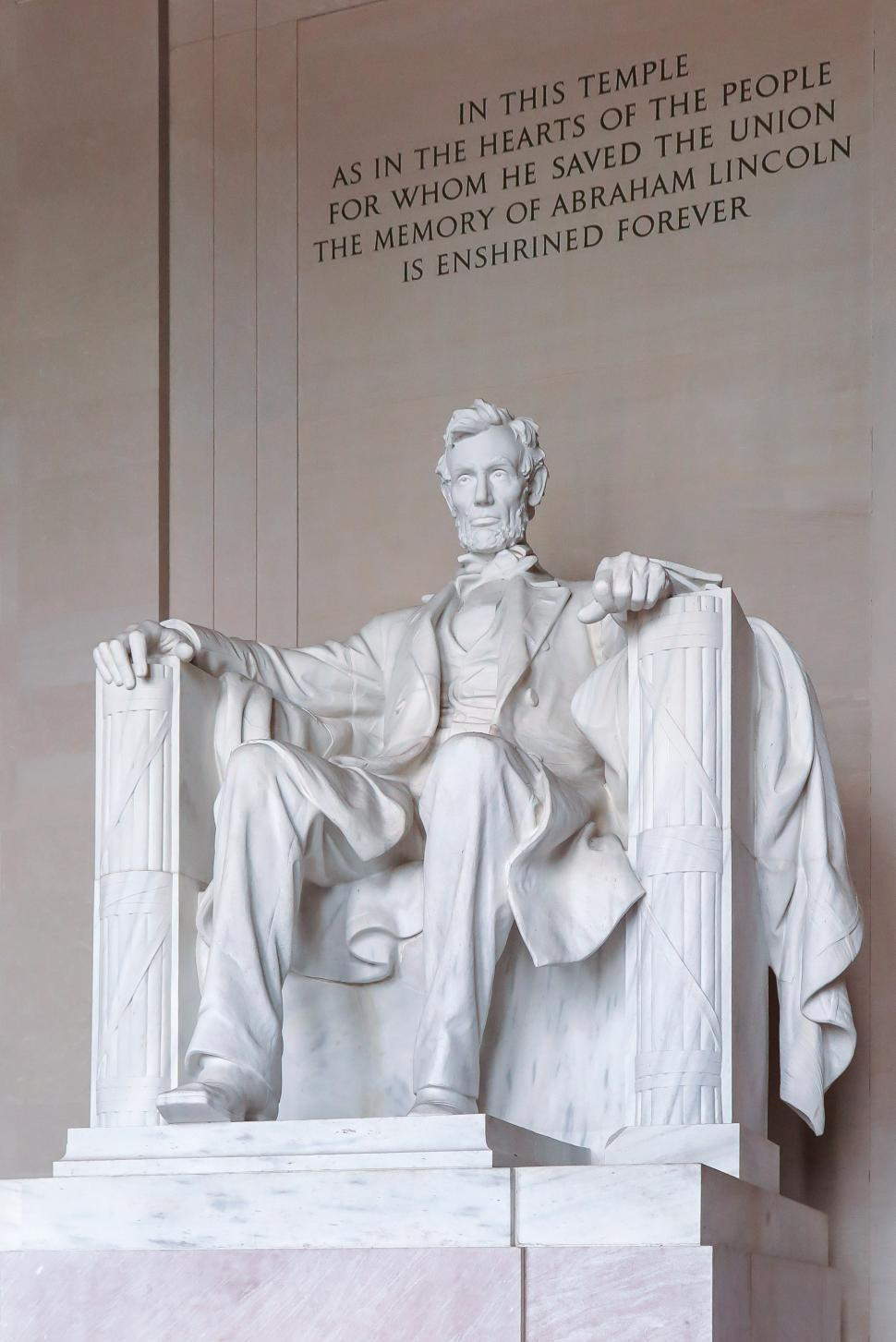 Download Free Stock HD Photo of Abraham Lincoln seated, Lincoln Memorial Online