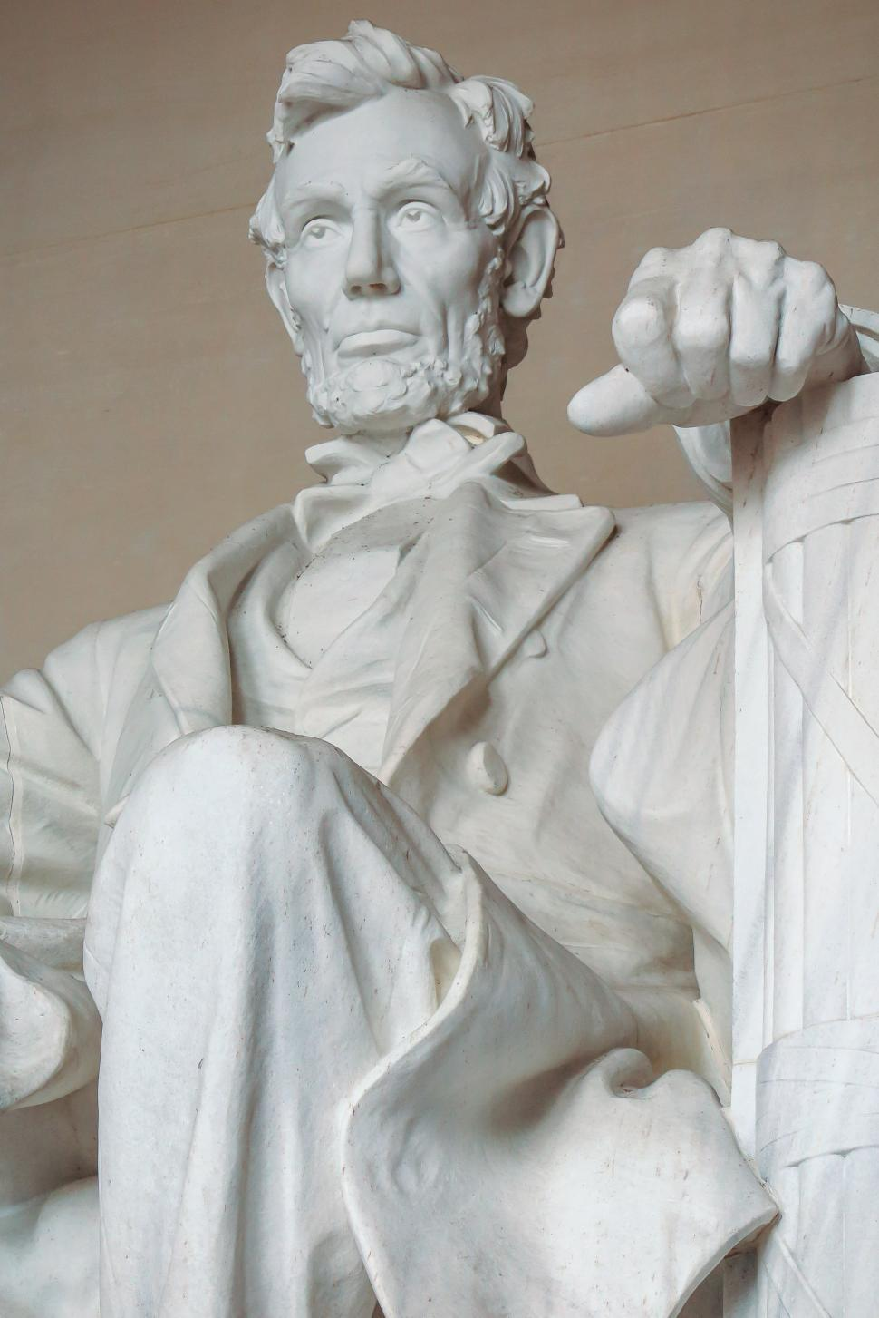 Download Free Stock Photo of Closeup of Abraham Lincoln, Lincoln Memorial