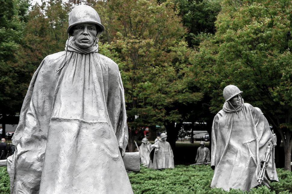 Download Free Stock HD Photo of Soldier statues, Korean War Monument Online