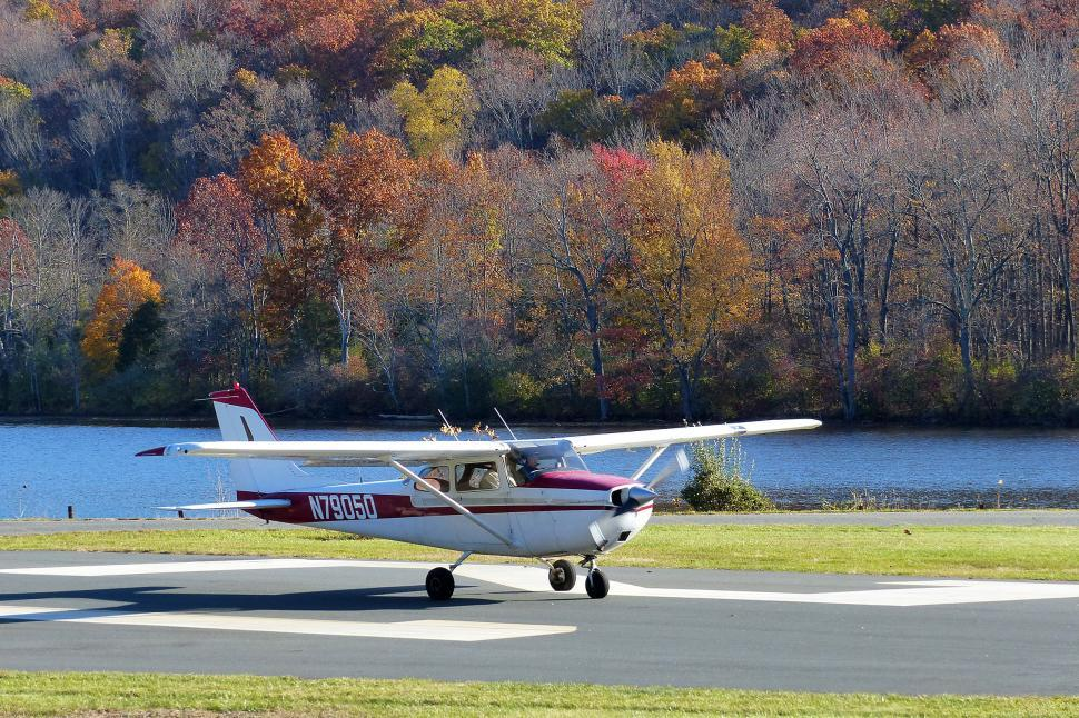Download Free Stock HD Photo of Cessna Taxiing After Landing Online