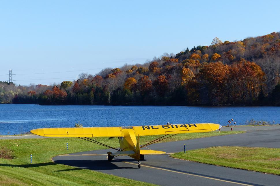 Download Free Stock HD Photo of Piper Cub Taxiing For Takeoff Online