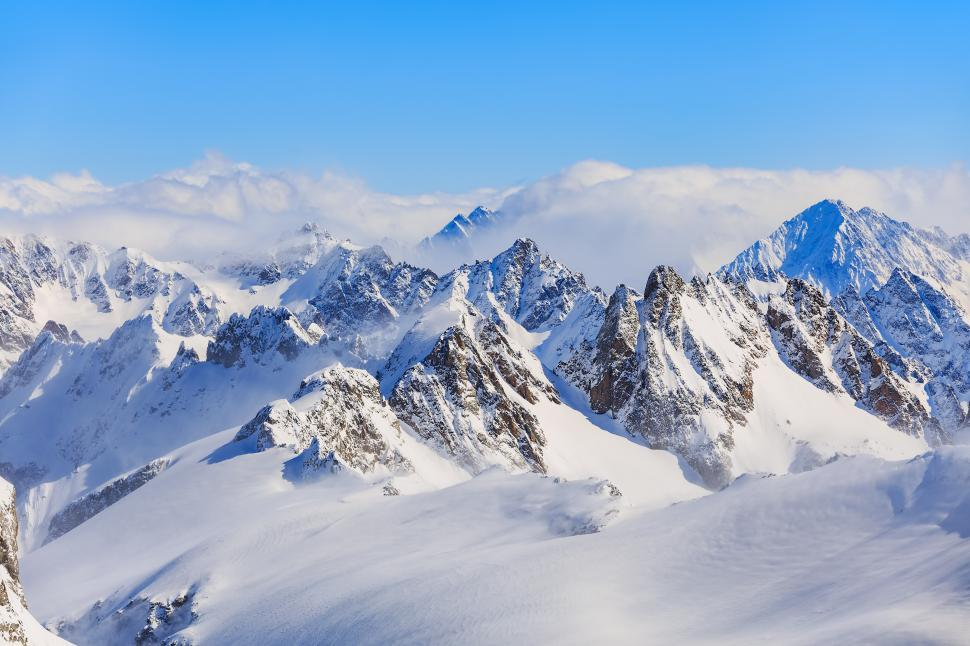 Download Free Stock Photo of View from Mt. Titlis in Switzerland