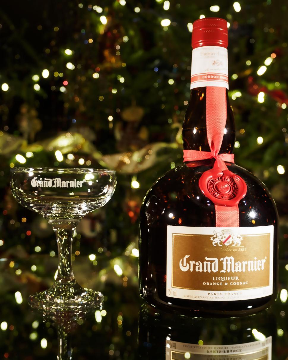 Download Free Stock Photo of Grand Marnier with glass