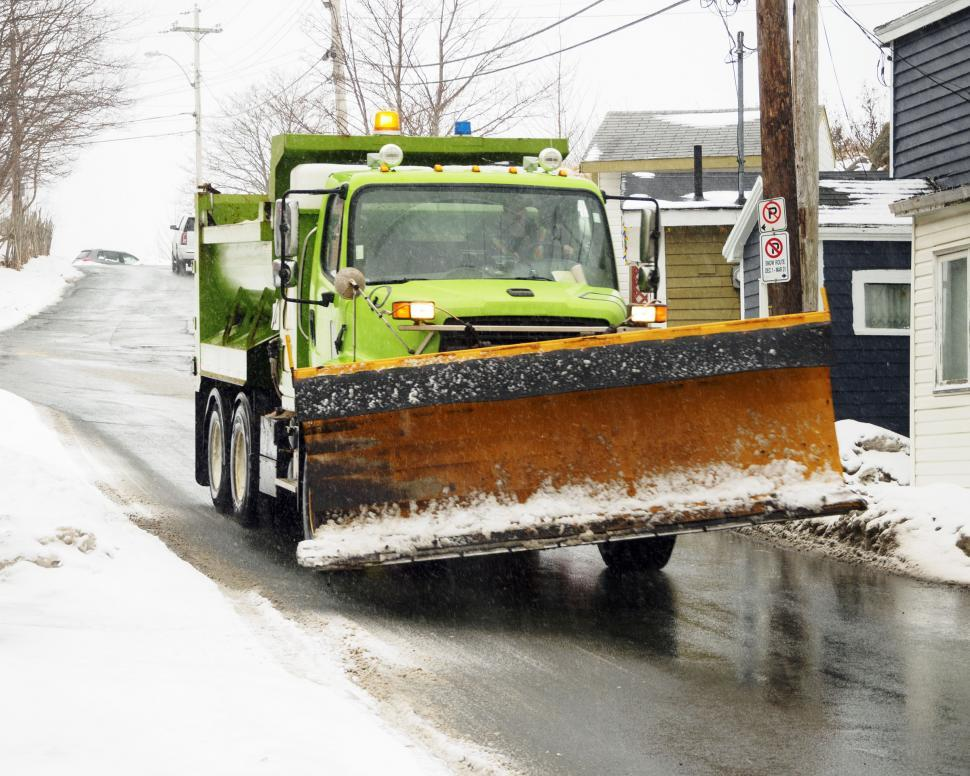 Download Free Stock Photo of Winter road work