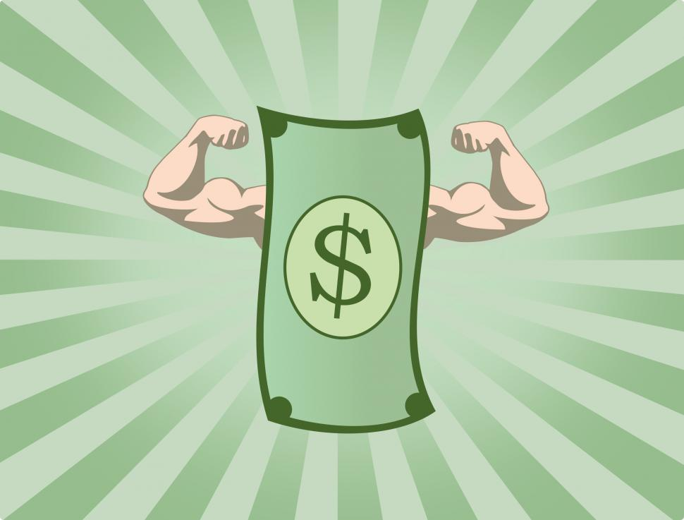 Download Free Stock Photo of The Mighty Dollar - The Power of Money