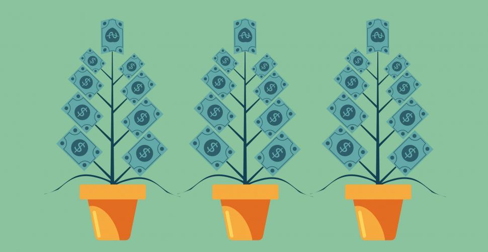 Download Free Stock HD Photo of Money Growing on Trees - Capital Appreciation Concept Online