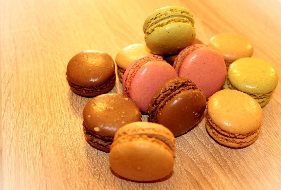 Download Free Stock Photo of Heap of French Macaroons - Sweets and Cookies