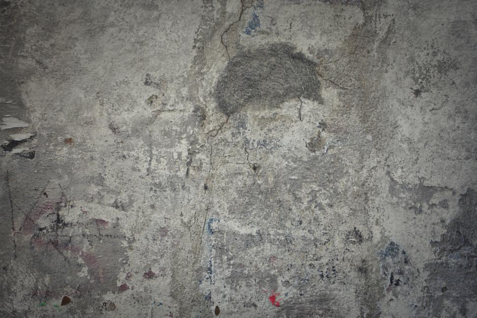 Download Free Stock Photo of Gray Grunge Cracked Wall