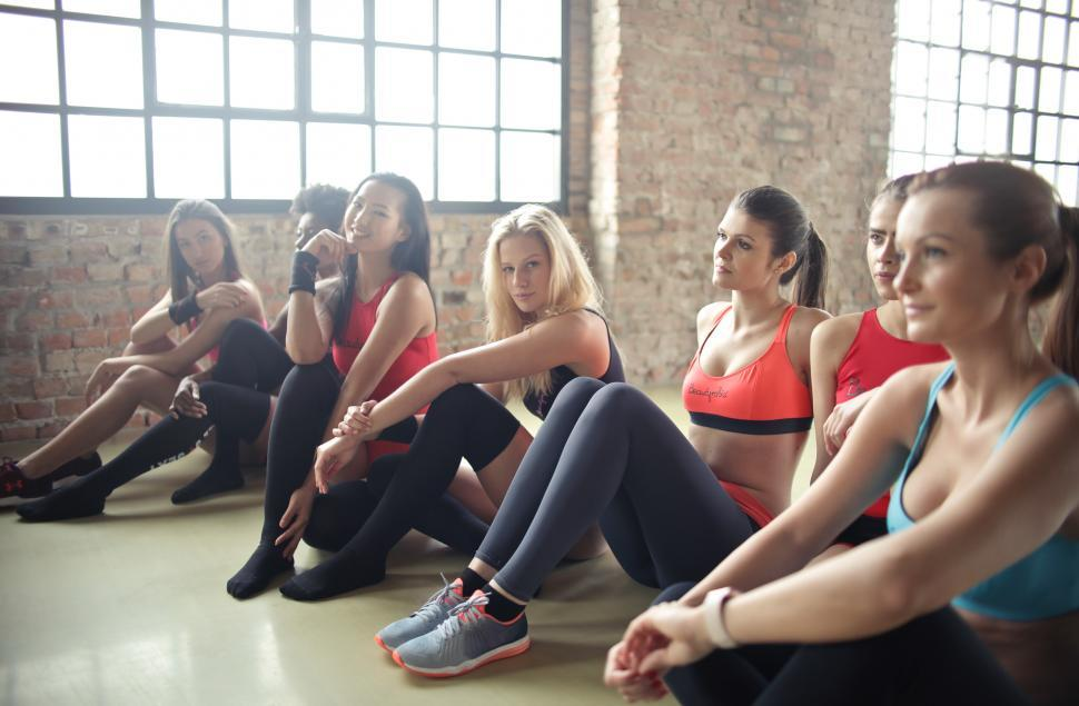 Download Free Stock Photo of Group Of Women In Yoga Class