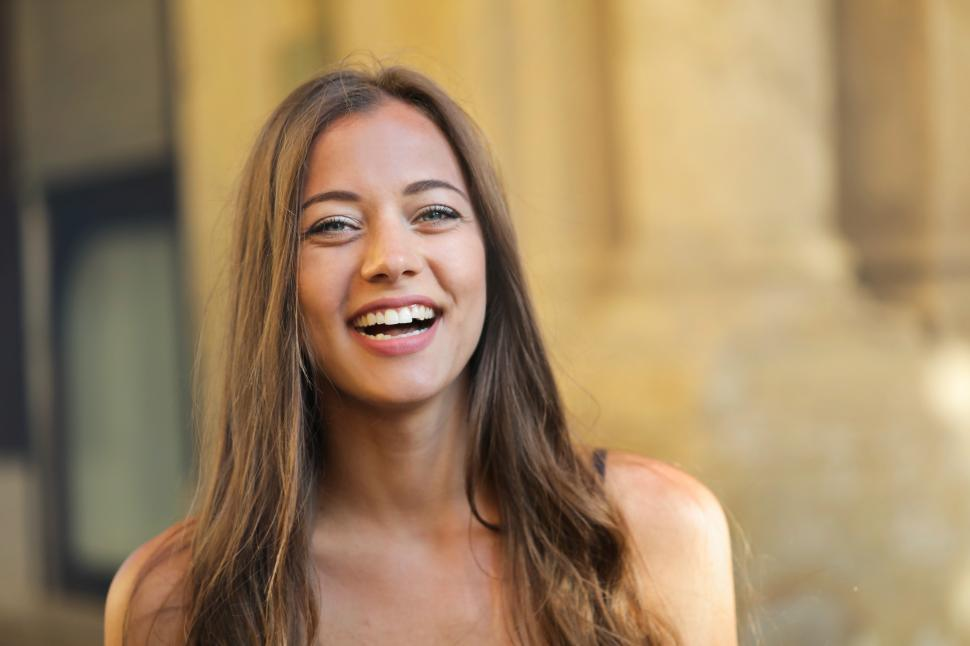 Download Free Stock Photo of Happy smiling young woman