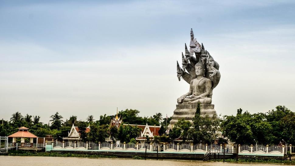 Download Free Stock Photo of Big Buddha Statue Side View
