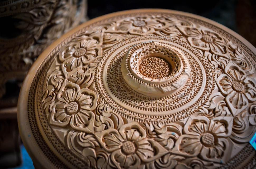 Download Free Stock HD Photo of Thai Pottery Style - Lid Online