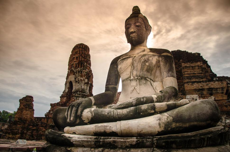 Download Free Stock Photo of Very Large Buddha Statue