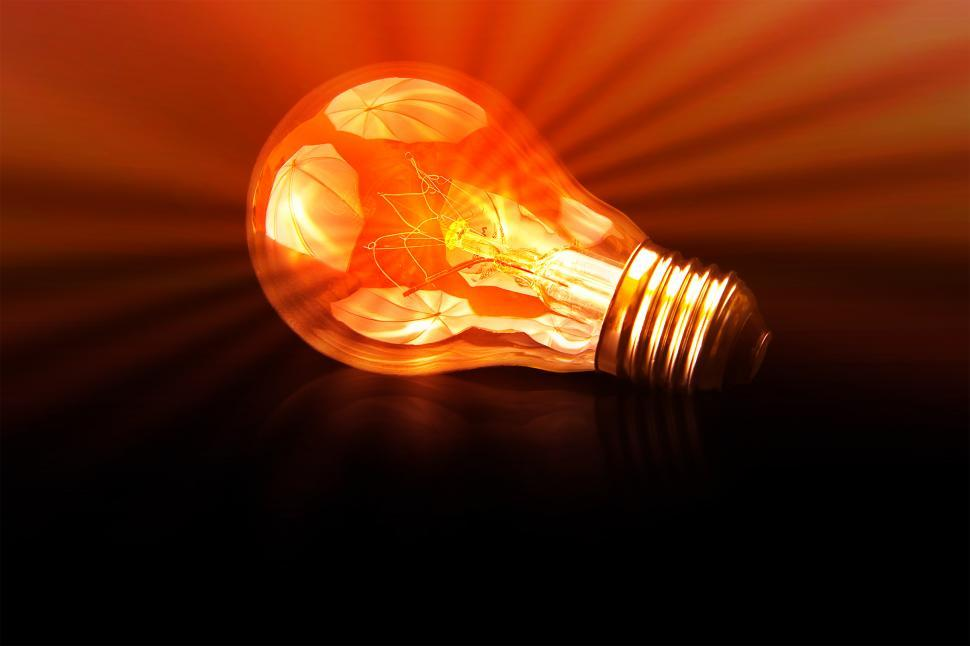 Download Free Stock HD Photo of The Brightest - A Bright Light Bulb  Online