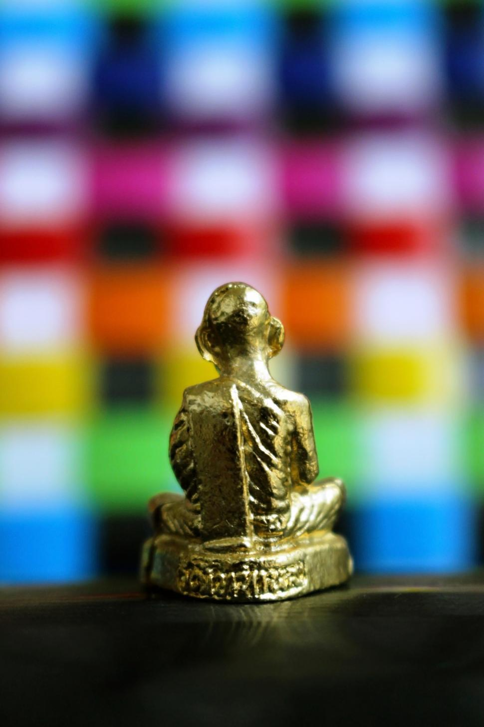 Download Free Stock Photo of Golden Buddha Statue