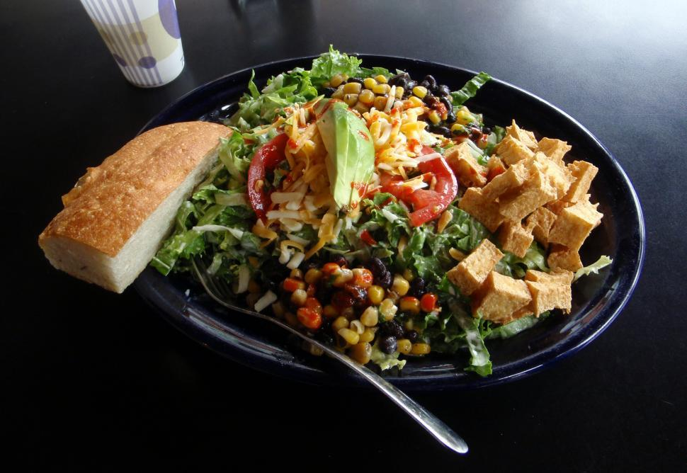 Download Free Stock HD Photo of Vegetarian Chinese Salad Online