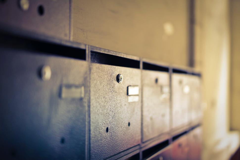 Download Free Stock Photo of Pigeon hole mailboxes