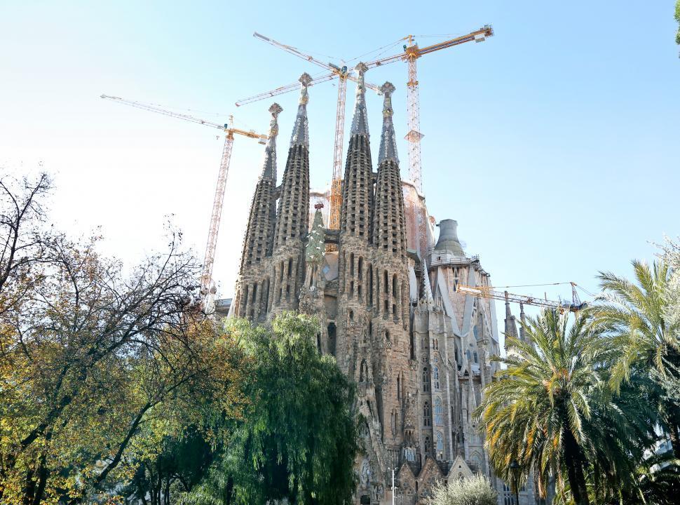 Download Free Stock Photo of Sagrada familia under construction