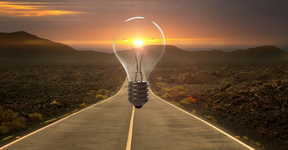 Download Free Stock Photo of  highway - lightbulb for new idea